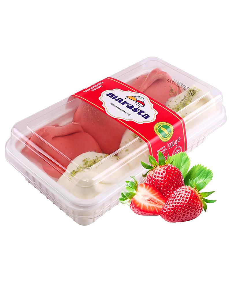 Marasta Top Top Çilekli Dondurma
