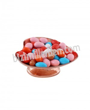 Bakır Ayaklı Kalpli Şeker-Çerezlik