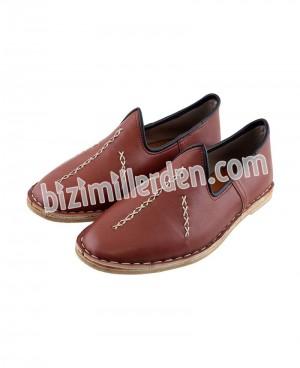 Kahverengi Erkek Osmanlı  Çarığı