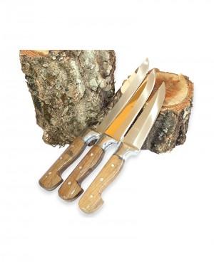 Gümüş Bilezik 3'lü Bıçak Set