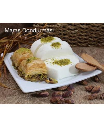 Sade Kesme Maraş Dondurması (1kg) (Alpedo-Kervan)